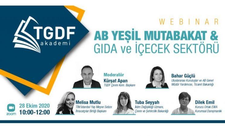 TGDF, AB Yeşil Mutabakat'ı değerlendirdi!
